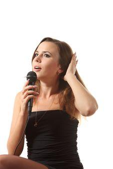 Free Singing Woman Royalty Free Stock Images - 16198529