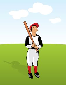 Free Child With Baseball Bat Stock Photos - 16198823