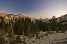 Mountains Of Yosemite National Park Stock Images