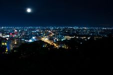 Free Top View Of Pattaya In The Night Royalty Free Stock Photography - 16199117