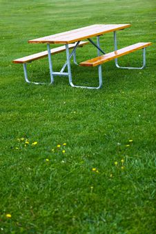 Free Bench And Lawn Royalty Free Stock Photography - 16199177