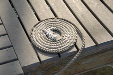 Free Coiled Line On The Dock Stock Photos - 16199313