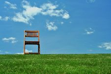 Free Wooden Chair On A Hilltop Royalty Free Stock Photos - 16199598