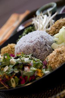 Thai Purple Rice Royalty Free Stock Image