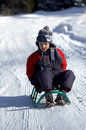 Free Boy On Sled Royalty Free Stock Photo - 1629585