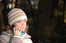 Free Girl Calling Stock Photography - 1620162