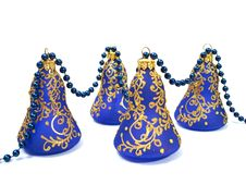 Free Blue Christmas Decoration Over White Background Stock Image - 1620241