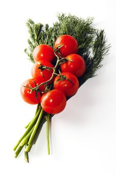 Free Branch Of Small Tomatoes Royalty Free Stock Photography - 1621377