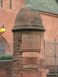 Free Inscription Pillar For The Glasgow Barony Church Royalty Free Stock Photo - 1621575