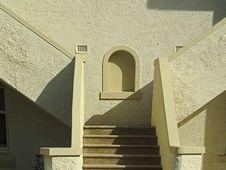 Art Deco Stucco Steps St Kilda Royalty Free Stock Photos