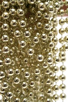 Free Celebratory Brilliant Beads Of Golden Color 1 Stock Image - 1623421