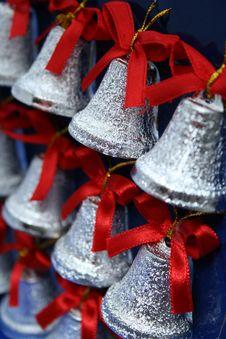 Free Christmas Handbells Of Silvery Color Stock Image - 1623531