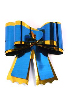 Free The Blue Isolated Celebratory Bow For A Gift Royalty Free Stock Photography - 1623877