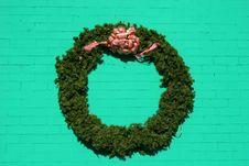 Wreath On Green Stock Photos