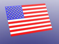 Free American Flag. 3D Royalty Free Stock Photo - 1624325