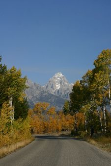 Free Grand Teton Road Stock Image - 1624461