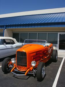 Free Orange Hotrod Roadster Royalty Free Stock Photos - 1624598