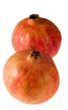 Free Two Pomegranates - Vertical Stock Image - 1625141