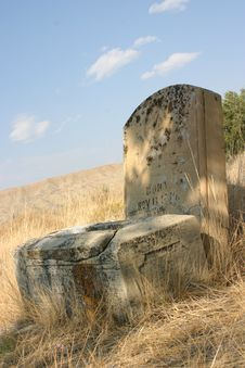 Old Grave Marker Royalty Free Stock Photo