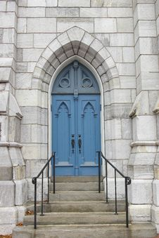 Free Blue Church Door Stock Images - 1625644