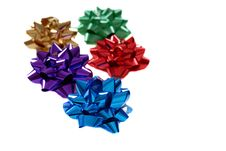 Free Five Colorful Bows Isolated On White Stock Images - 1625914