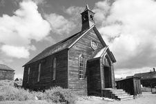 Free Bodie Ghost Town Church Stock Photography - 1626252