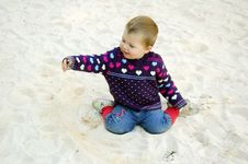 Free Baby At The Beach Royalty Free Stock Image - 1626996