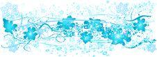 Free Grunge Snowflakes Frame Stock Photos - 1628613