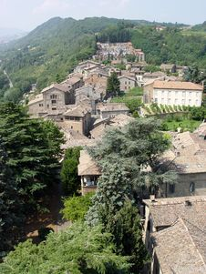 Aerial View Of Italian Village Royalty Free Stock Photo