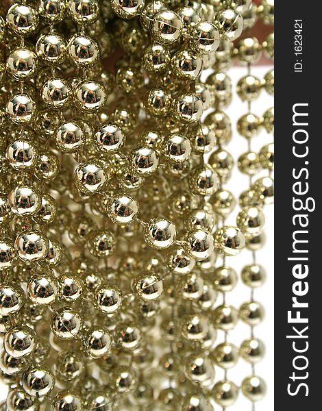 Celebratory brilliant beads of golden color 1
