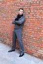 Free Man Near Brick Wall Royalty Free Stock Photos - 16202008