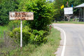 Free Rusty Road Sign In Rural Thailand Stock Images - 16206414