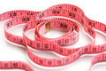 Free Pink Measuring Tape On White Stock Photos - 16208303