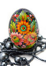 Free Painted Easter Eggs Witn String Of Beads Stock Images - 16208374