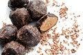 Free Chocolate Truffle With Shaving On White Royalty Free Stock Image - 16208996