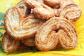 Free Dutch Cookie On Yellow Plate Royalty Free Stock Photos - 16209048