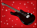 Free Electric Guitar And Red Background Stock Photo - 16209460