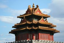 Corner Tower Of The Forbidden City In Beijing Royalty Free Stock Photos