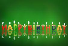 Free Birthday Candles Royalty Free Stock Photos - 16200048