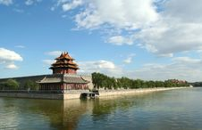 Corner Tower Of The Forbidden City In Beijing Stock Photo