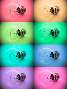Free Color Bulb Collection Stock Photography - 16200262