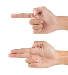 Hands Pointing Royalty Free Stock Photos