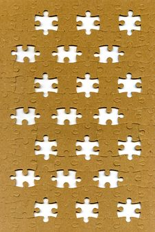 Free Puzzle With Missing Pieces Stock Image - 16200561