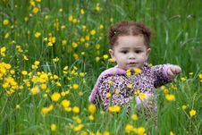 Free Flower Toddler Royalty Free Stock Image - 16200576
