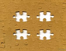 Free Puzzle With Missing Pieces Stock Photography - 16200612