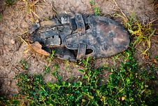 Free Old Dirty Shoe Stock Photography - 16200772