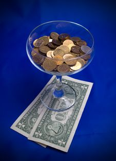 Free Cocktail From Money Royalty Free Stock Images - 16200809