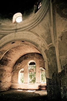 Old Church Indoors Royalty Free Stock Photo