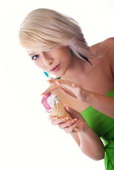 Free Woman With Ice-cream Stock Photos - 16201663