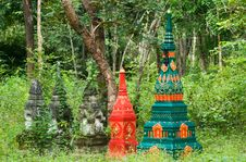 Tombstones In Rural Thailand Royalty Free Stock Photos